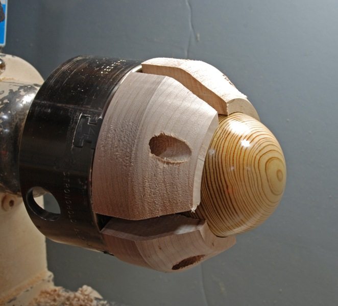 show how to make wood lathe jaws